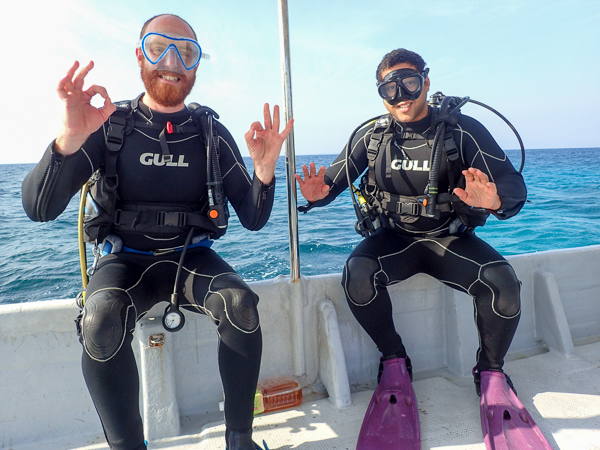 Discover Scuba Dives among Corals☆